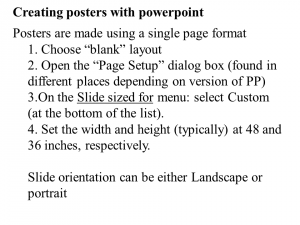 creating posters with powerpoint
