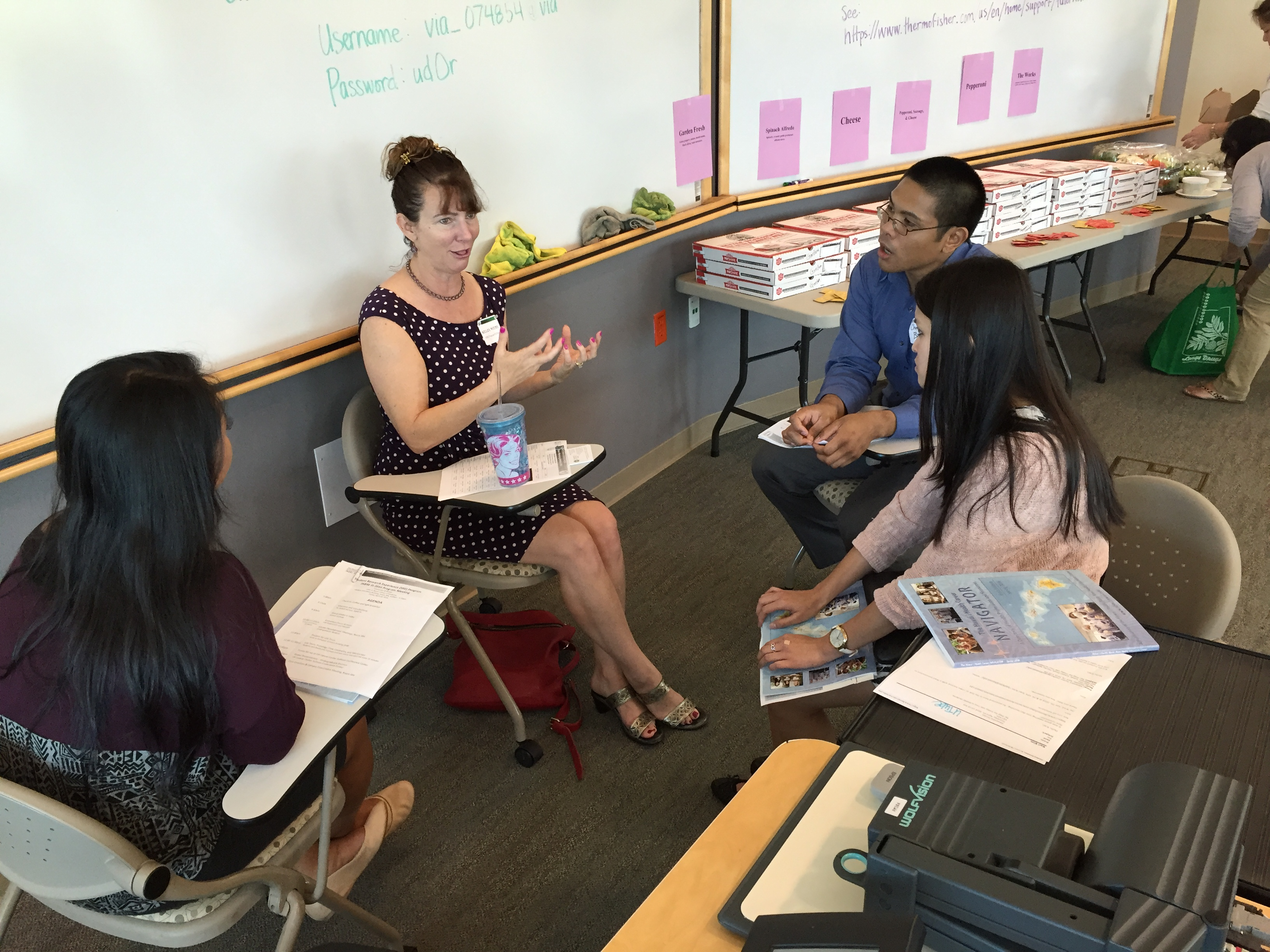 Mentoring session with Dr. Kelley Withy