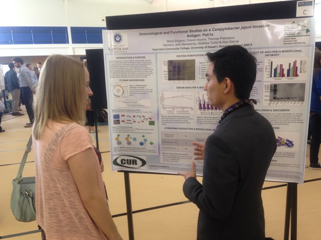 INBRE SRE Student Brent Shigano at NCUR April 2016