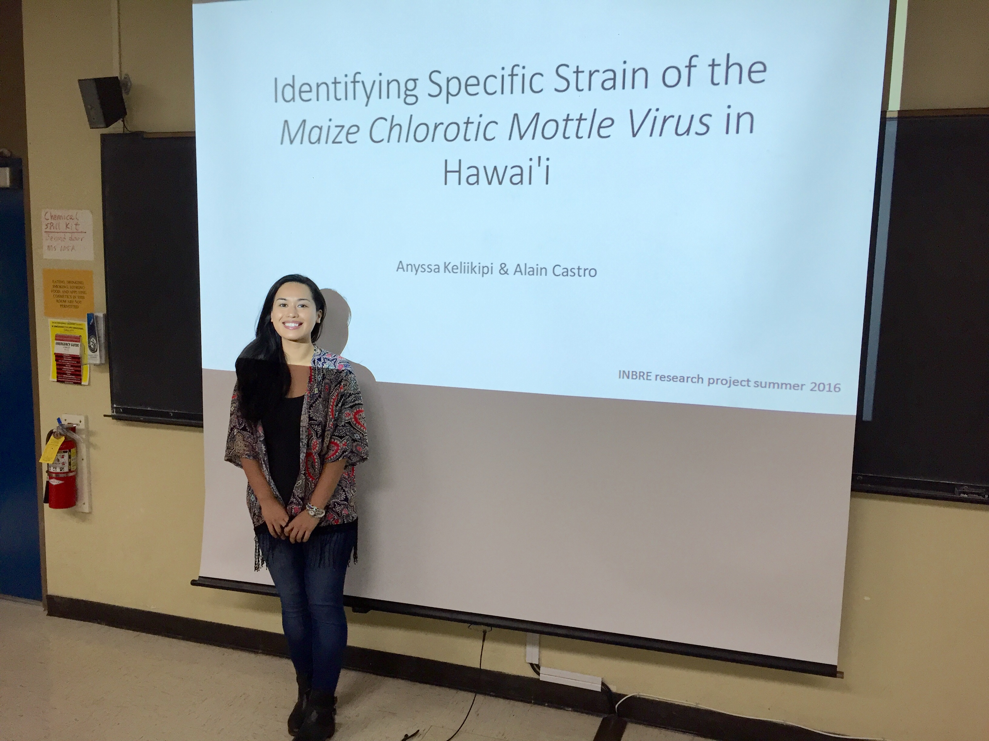 """Identifying Specific Strain of the Maize Chlorotic Mottle Virus in Hawaii"" by Anyssa Keliikipi and Alain Castro (not present)"