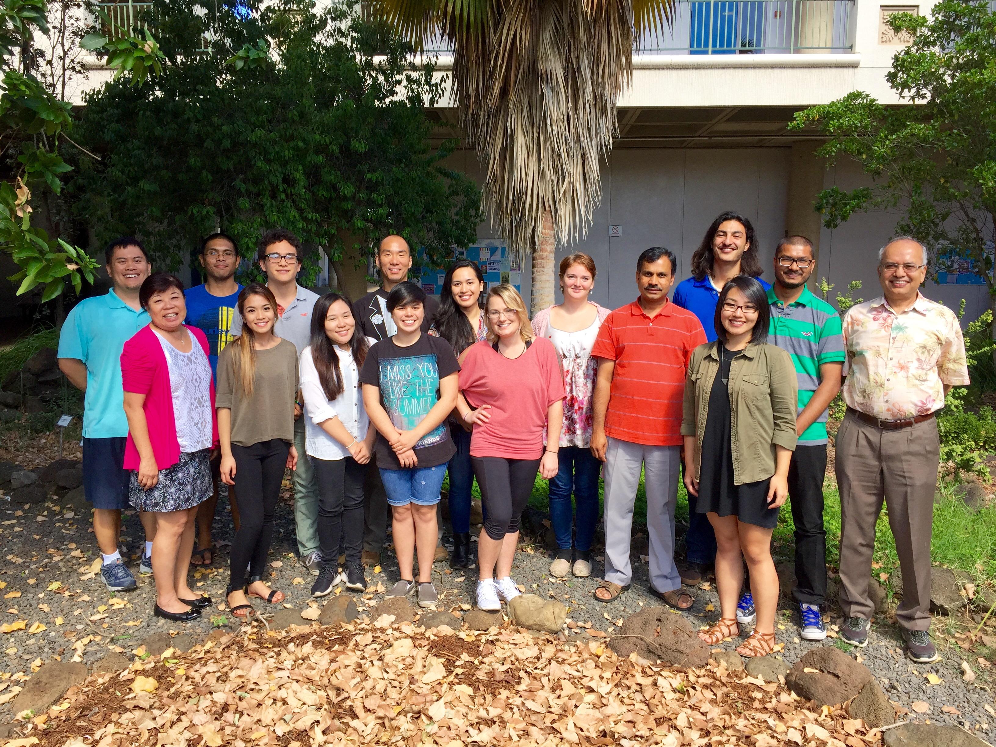 INBRE SRE Summer '16 Students and Campus Coordinators at Leeward Community College