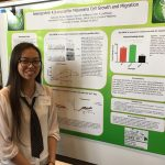 INBRE SRE Student, Katie Lee, at the Undergraduate Poster Session