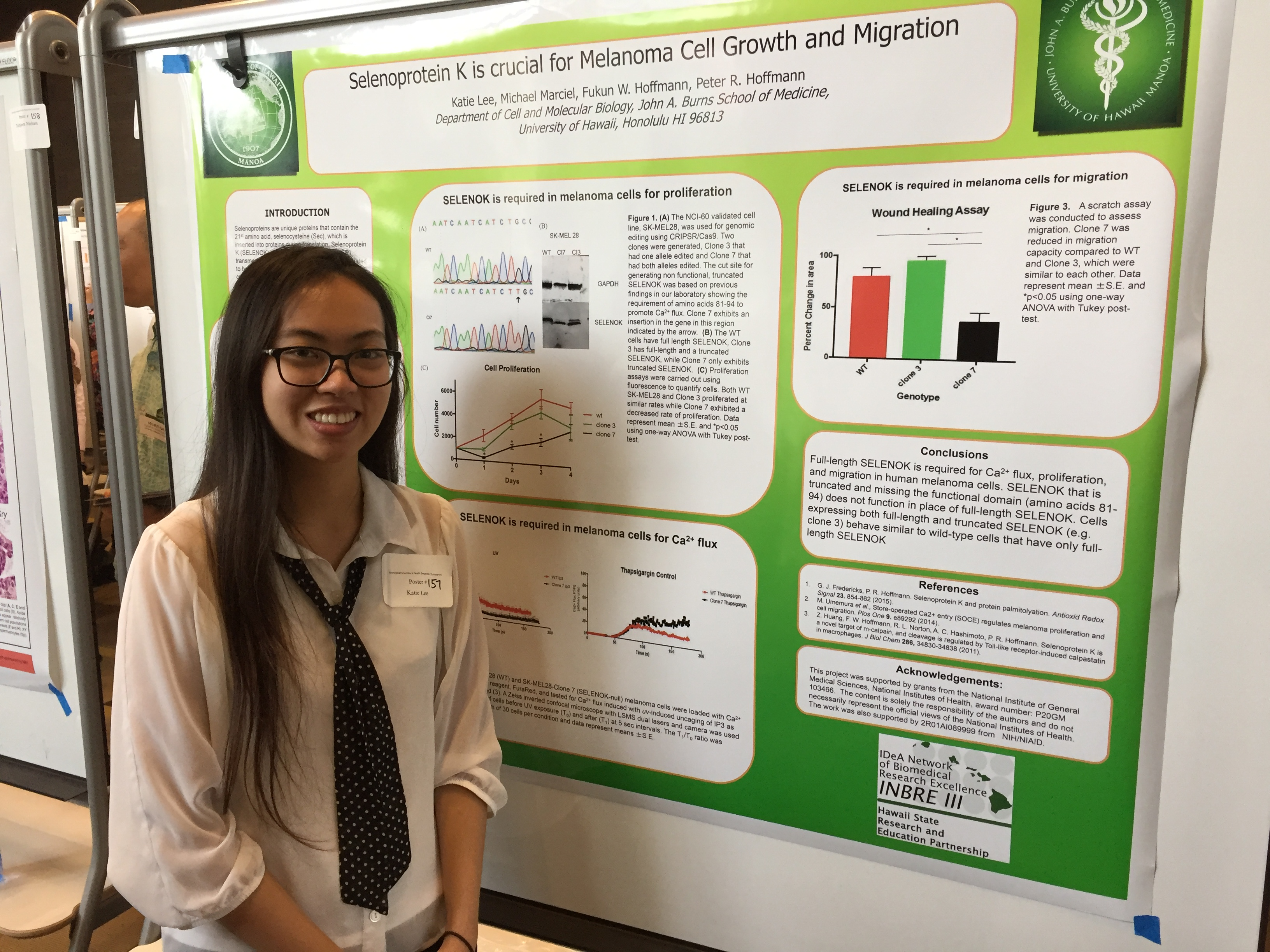 INBRE SRE Student, Katie Lee, at the Undergraduate Poster Session