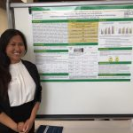 INBRE SRE Student, Natalie Subia, at the Undergraduate Poster Session