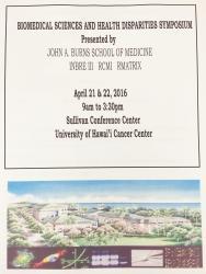 Biomedical Sciences & Health Disparities Symposium Program for April 21-22, 2016