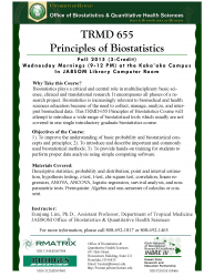 TRMD 655 Principles of Biostatistics